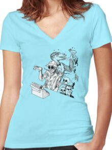 HS Thompson writing Women's Fitted V-Neck T-Shirt