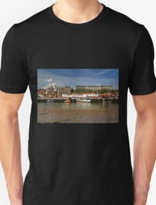 Whitby Lower Harbour and the West Cliff T-Shirt