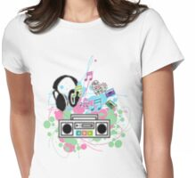 Music=Life Womens Fitted T-Shirt