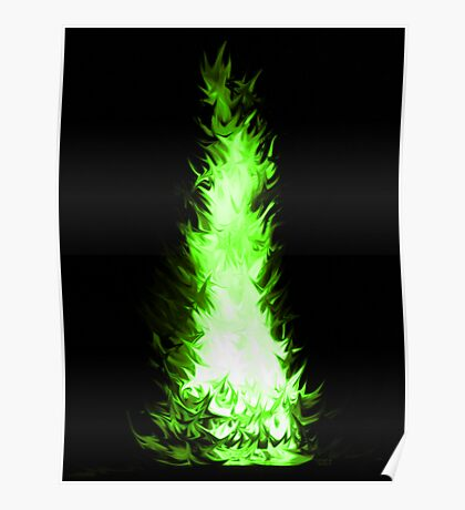 Fire Spikes 4 Poster