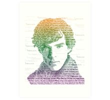 Sherlock Quote Rainbow Art Print