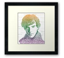 Sherlock Quote Rainbow Framed Print