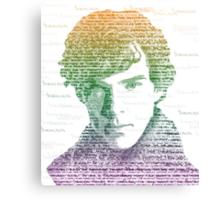 Sherlock Quote Rainbow Canvas Print