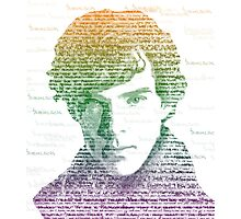 Sherlock Quote Rainbow Photographic Print
