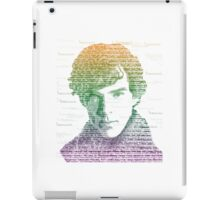 Sherlock Quote Rainbow iPad Case/Skin