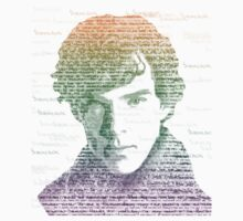 Sherlock Quote Rainbow T-Shirt