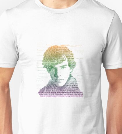 Sherlock Quote Rainbow Unisex T-Shirt