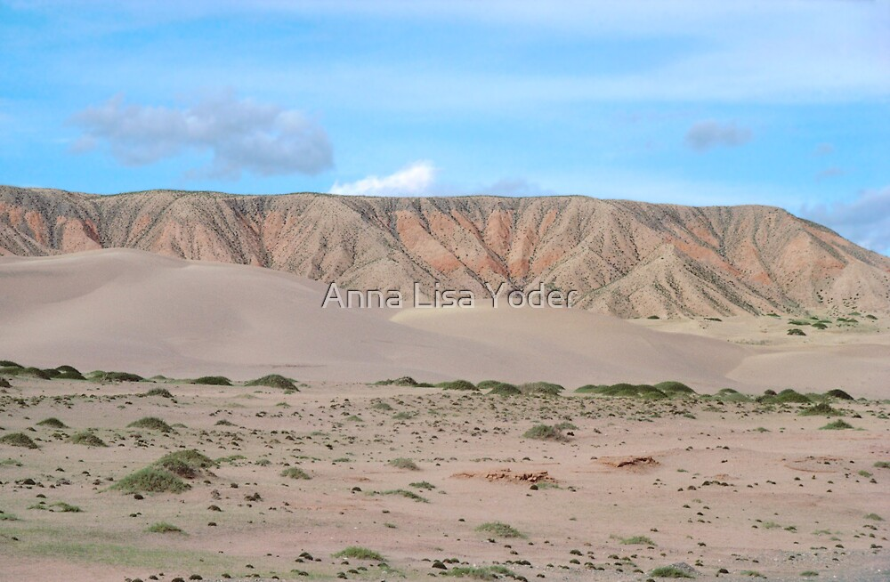Qinghai Desert Sand Mountain, China by Anna Lisa Yoder