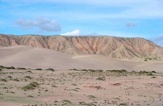Qinghai Desert Sand Mountain, China by Anna Lisa Yoder