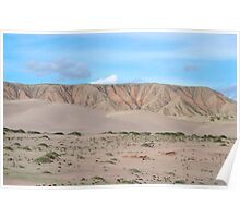 Qinghai Desert Sand Mountain, China Poster
