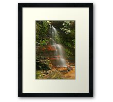 Federal Falls in the Blue Mountains Framed Print