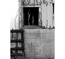 Old barn window Photographic Print
