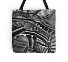 Old Style Workmanship  (Monochrome Version) - The Grand Staircase, Queen Victoria Building - The HDR Experience Tote Bag