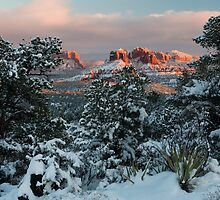 Sedona, Az - Frosty Sunset by Candy Gemmill