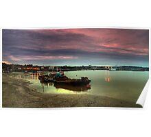 Medway at dusk Poster