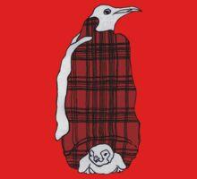 Tartan Penguin One Piece - Short Sleeve