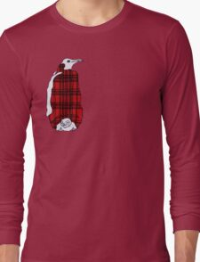 Tartan Penguin Long Sleeve T-Shirt