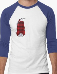 Tartan Penguin Men's Baseball ¾ T-Shirt