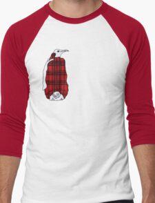 Tartan Penguin Men's Baseball ¾ T-Shirt
