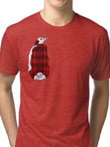 Tartan Penguin Tri-blend T-Shirt