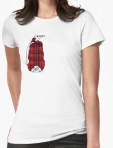 Tartan Penguin Womens Fitted T-Shirt