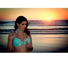 Girl At the Beach Photographic Print