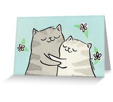 Kitty Cat Hug Greeting Card