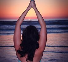 Yoga at the Beach by mAriO vAllejO