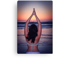 Yoga at the Beach Canvas Print