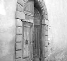 Tuscan Door - B&W - Tuscan Door collection by Maike