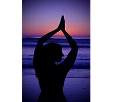 Yoga at the Beach Photographic Print