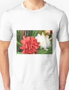 Red and White Unisex T-Shirt