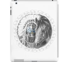 Plains Indian and Horse iPad Case/Skin