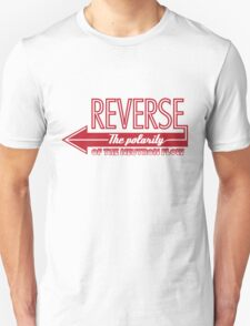 Doctor Who Typography - Reverse The Polarity! Unisex T-Shirt