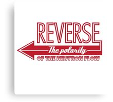 Doctor Who Typography - Reverse The Polarity! Canvas Print