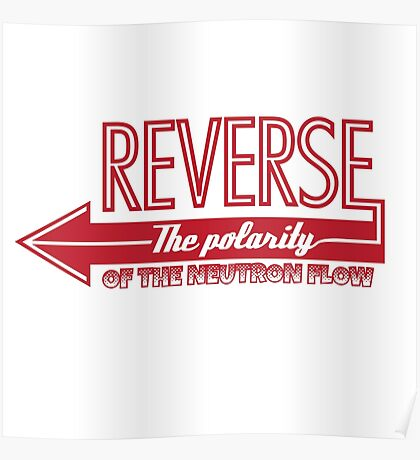 Doctor Who Typography - Reverse The Polarity! Poster