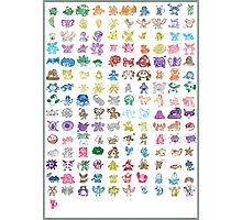 Modest Pokémon Kanto Photographic Print