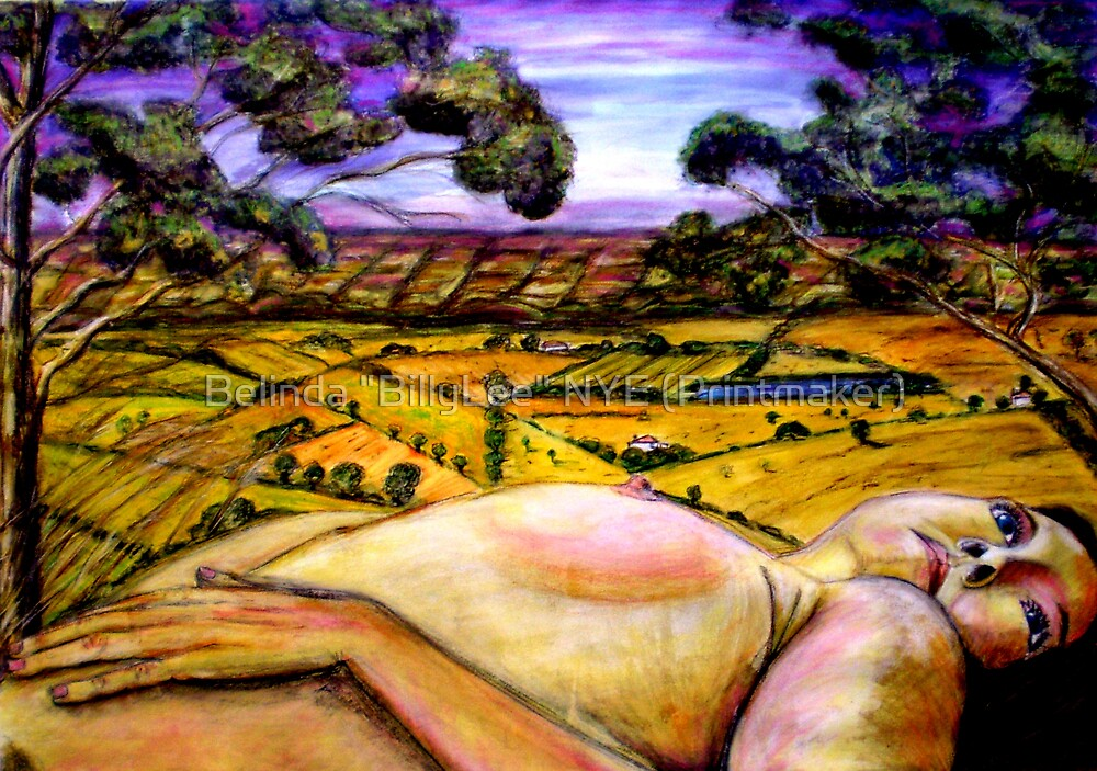 """Delta Dawn  - Drawing by Belinda """"BillyLee"""" NYE (Printmaker)"""