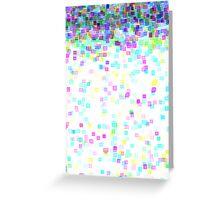 pixel rain Greeting Card