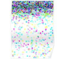 pixel rain Poster