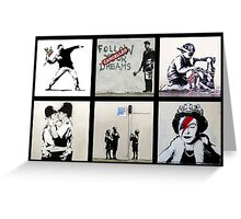 BANKSY MONTAGE 0101 Greeting Card