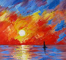 Sailing Into The Sunset by vitbich