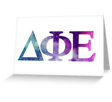 DPhiE Galaxy Letters Greeting Card
