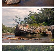 Carrington Falls Triptych # 1 by George Petrovsky