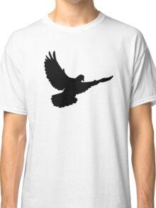 Black flying dove Classic T-Shirt