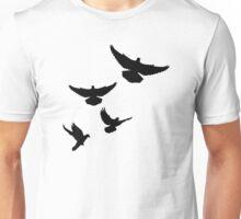 Flying doves Unisex T-Shirt