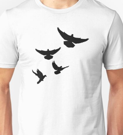 Flying doves Unisex T-Shirt