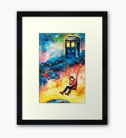 The Man Who Lived On A Cloud - Doctor Who Framed Print