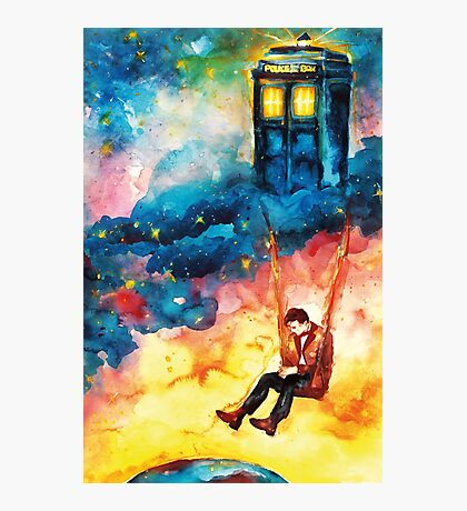 The Man Who Lived On A Cloud - Doctor Who Photographic Print