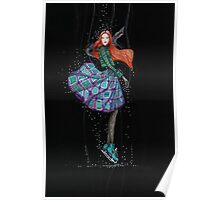 Charming ice skater with red hair Poster